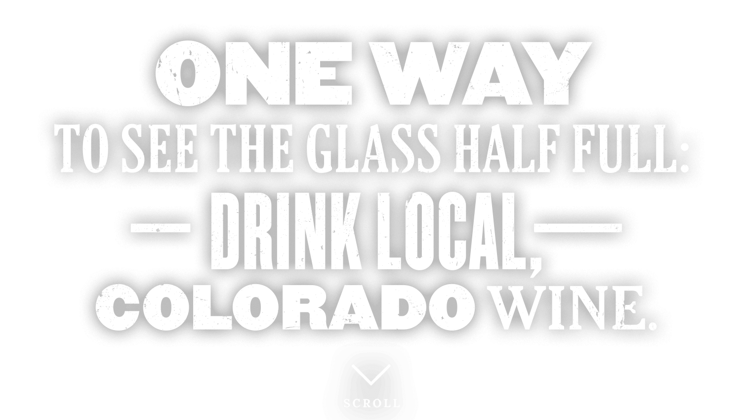 Drink local Colorado wine